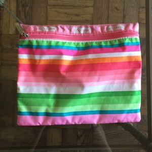 NWOT LESPORTSAC Rainbow Make Up Bag or Pencil Case